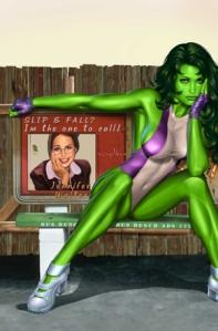 She-Hulk vol. 2 #7, textless variant. Art by Greg Horn